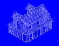 όψη σπιτιών πλαισίων sw απεικόνιση αποθεμάτων