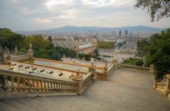 Όψη στο τετράγωνο Espanya στη Βαρκελώνη, Ισπανία Στοκ εικόνες με δικαίωμα ελεύθερης χρήσης