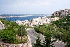 Όψη στο χωριό Mellieha στη Μάλτα Στοκ εικόνα με δικαίωμα ελεύθερης χρήσης