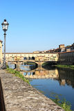 Όψη στο Ponte Vecchio στη Φλωρεντία, Ιταλία Στοκ φωτογραφίες με δικαίωμα ελεύθερης χρήσης