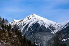 Όψη σχετικά με τις Άλπεις Στοκ Φωτογραφία