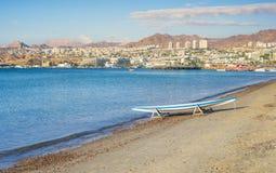 Όψη σχετικά με τον κόλπο Aqaba και το Elat, Ισραήλ Στοκ εικόνα με δικαίωμα ελεύθερης χρήσης