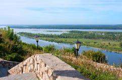 Όψη σχετικά με τον ποταμό Βόλγας, πόλη Samara Στοκ Εικόνα