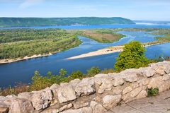Όψη σχετικά με τον ποταμό Βόλγας στην πόλη Samara Στοκ εικόνα με δικαίωμα ελεύθερης χρήσης