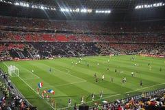 Όψη σχετικά με το αγωνιστικό χώρο ποδοσφαίρου Στοκ Εικόνα