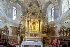 Όψη σχετικά με το εσωτερικό της εκκλησίας αδύτων σε Lesniow Στοκ φωτογραφία με δικαίωμα ελεύθερης χρήσης