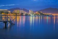 Όψη σχετικά με Eilat στη νύχτα Στοκ εικόνα με δικαίωμα ελεύθερης χρήσης