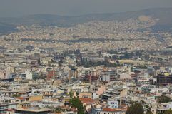 όψη της Αθήνας ακρόπολη Στοκ Εικόνες