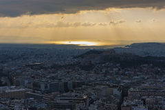 όψη της Αθήνας Στοκ Εικόνες
