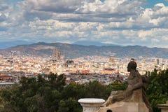όψη της Βαρκελώνης Στοκ εικόνες με δικαίωμα ελεύθερης χρήσης