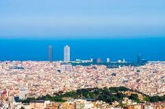 όψη της Βαρκελώνης Στοκ Φωτογραφία