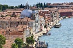 όψη της Βενετίας giudecca Στοκ Εικόνες