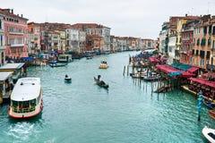όψη της Βενετίας rialto γεφυρών Στοκ Εικόνες