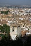 Όψη της Γρανάδας από Alhambra Στοκ Εικόνες