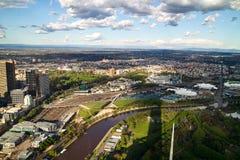 όψη της Μελβούρνης πόλεων Στοκ Φωτογραφίες
