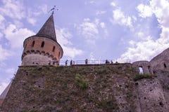 όψη της πόλης Ουκρανίας podilskyi κάστρων kamianets παλαιά Στοκ εικόνα με δικαίωμα ελεύθερης χρήσης