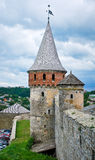 όψη της πόλης Ουκρανίας podilskyi κάστρων kamianets παλαιά Στοκ Εικόνες