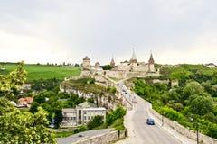 όψη της πόλης Ουκρανίας podilskyi κάστρων kamianets παλαιά Στοκ Φωτογραφία