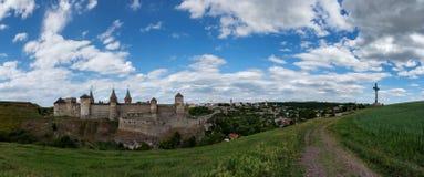 όψη της πόλης Ουκρανίας podilskyi κάστρων kamianets παλαιά Στοκ εικόνες με δικαίωμα ελεύθερης χρήσης