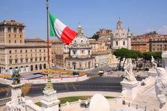 όψη της Ρώμης πανοράματος τη& Στοκ Φωτογραφία