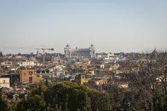 όψη της Ρώμης pincio λόφων Στοκ Εικόνες