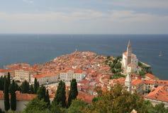 όψη της Σλοβενίας piran Στοκ Φωτογραφίες