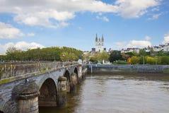 Όψη της Angers με το ST Maurice, Γαλλία Στοκ Εικόνες