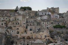 όψη του Βασιλικάτα Ιταλία $matera Στοκ Φωτογραφίες