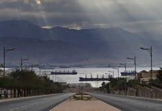όψη του Ισραήλ κόλπων πόλεων aqaba eilat Στοκ φωτογραφία με δικαίωμα ελεύθερης χρήσης