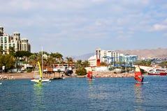 όψη του Ισραήλ κόλπων aqaba eilat Στοκ Εικόνες