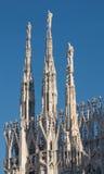 Όψη του καθεδρικού ναού στο Μιλάνο Στοκ φωτογραφία με δικαίωμα ελεύθερης χρήσης