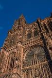 Όψη του καθεδρικού ναού του Στρασβούργου από το έδαφος altai στοκ εικόνα με δικαίωμα ελεύθερης χρήσης