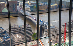 όψη του Λονδίνου πόλεων Πανοραμική άποψη από το πάτωμα 32 του ουρανοξύστη του Λονδίνου Στοκ εικόνες με δικαίωμα ελεύθερης χρήσης