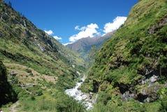 όψη του Νεπάλ annapurna Στοκ Εικόνες