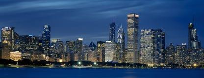 Όψη του ορίζοντα του Σικάγου στοκ εικόνες