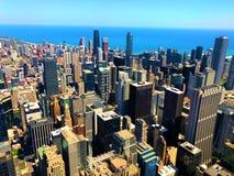 Όψη του ορίζοντα του Σικάγου Στοκ Φωτογραφία