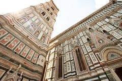 Όψη του πύργου κουδουνιών του καθεδρικού ναού Σάντα Μαρία del Fiore, Φλωρεντία, Ιταλία στοκ εικόνα με δικαίωμα ελεύθερης χρήσης