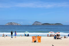 όψη του Ρίο janeiro της Βραζιλίας de ipanema παραλιών Στοκ Εικόνες