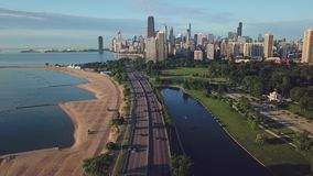 Όψη του στο κέντρο της πόλης Σικάγου απόθεμα βίντεο