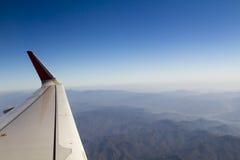 Όψη του φτερού αεροπλάνων αεριωθούμενων αεροπλάνων Στοκ φωτογραφία με δικαίωμα ελεύθερης χρήσης
