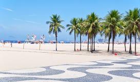 όψη φοινικών μωσαϊκών copacabana παραλιών στοκ εικόνα με δικαίωμα ελεύθερης χρήσης