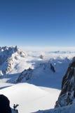 Όψη Aiguille du Midi Στοκ Φωτογραφία