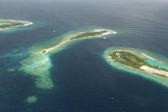 Όψη Arial ενός νησιού διακοπών Στοκ Φωτογραφία