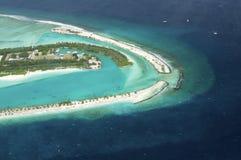 Όψη Arial ενός νησιού διακοπών Στοκ εικόνες με δικαίωμα ελεύθερης χρήσης
