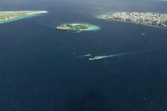 Όψη Arial ενός νησιού διακοπών Στοκ Εικόνες