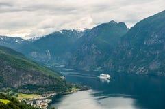 Όψη Aurlandsfjord, Νορβηγία Στοκ Φωτογραφίες