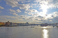 όψη Charles Πράγα γεφυρών Στοκ Εικόνες