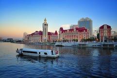 Όψη LandscapeâNight πόλεων Tianjin Στοκ εικόνα με δικαίωμα ελεύθερης χρήσης