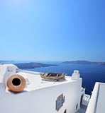 όψη santorini νησιών οικοδόμησης Ελλάδα Στοκ εικόνες με δικαίωμα ελεύθερης χρήσης