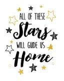 Όλα αυτά τα αστέρια θα μας καθοδηγήσουν σπίτι διανυσματική απεικόνιση